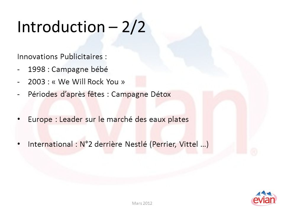 Introduction – 2/2 Innovations Publicitaires : 1998 : Campagne bébé