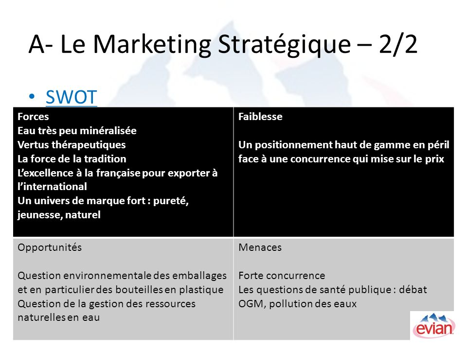 A- Le Marketing Stratégique – 2/2