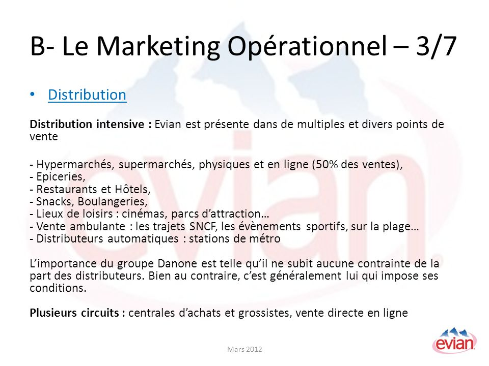 B- Le Marketing Opérationnel – 3/7