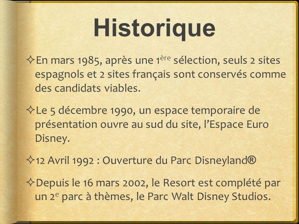 Historique En mars 1985, après une 1ère sélection, seuls 2 sites espagnols et 2 sites français sont conservés comme des candidats viables.