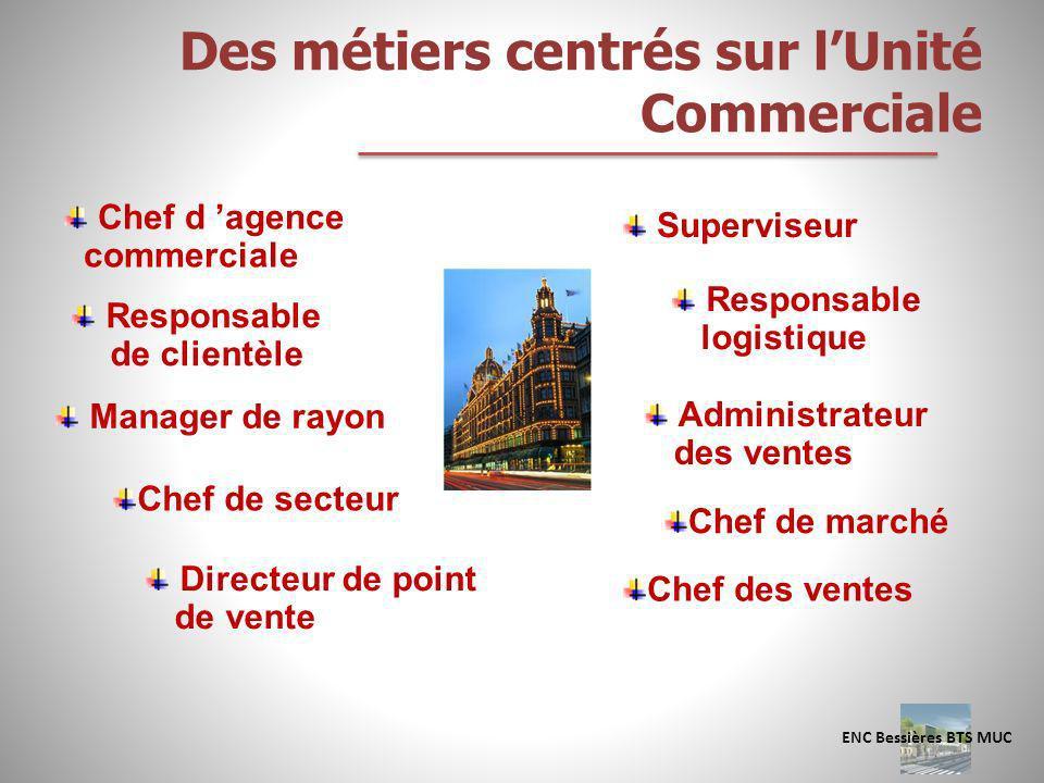 Des métiers centrés sur l'Unité Commerciale
