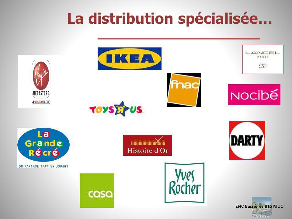 La distribution spécialisée…