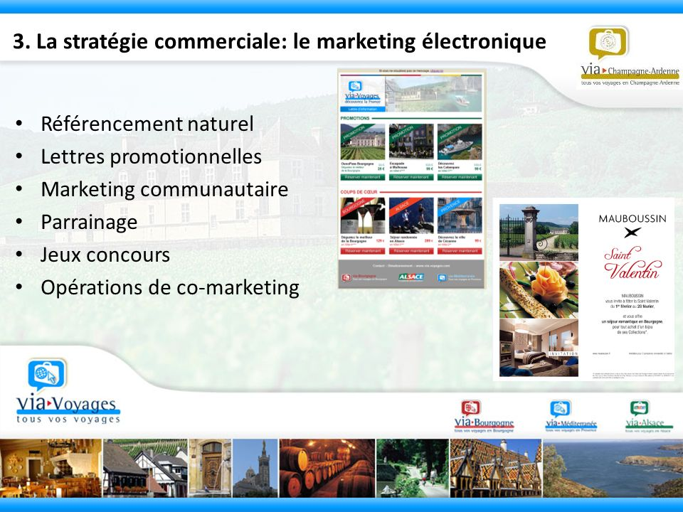 3. La stratégie commerciale: le marketing électronique