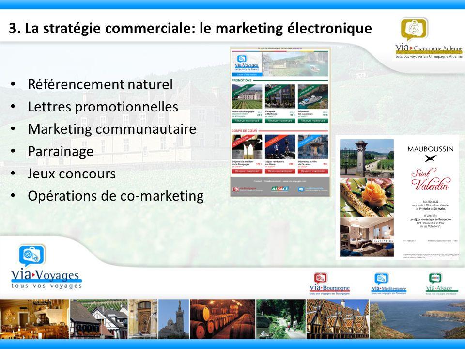3. La stratégie commerciale: le marketing électronique