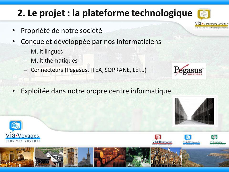 2. Le projet : la plateforme technologique