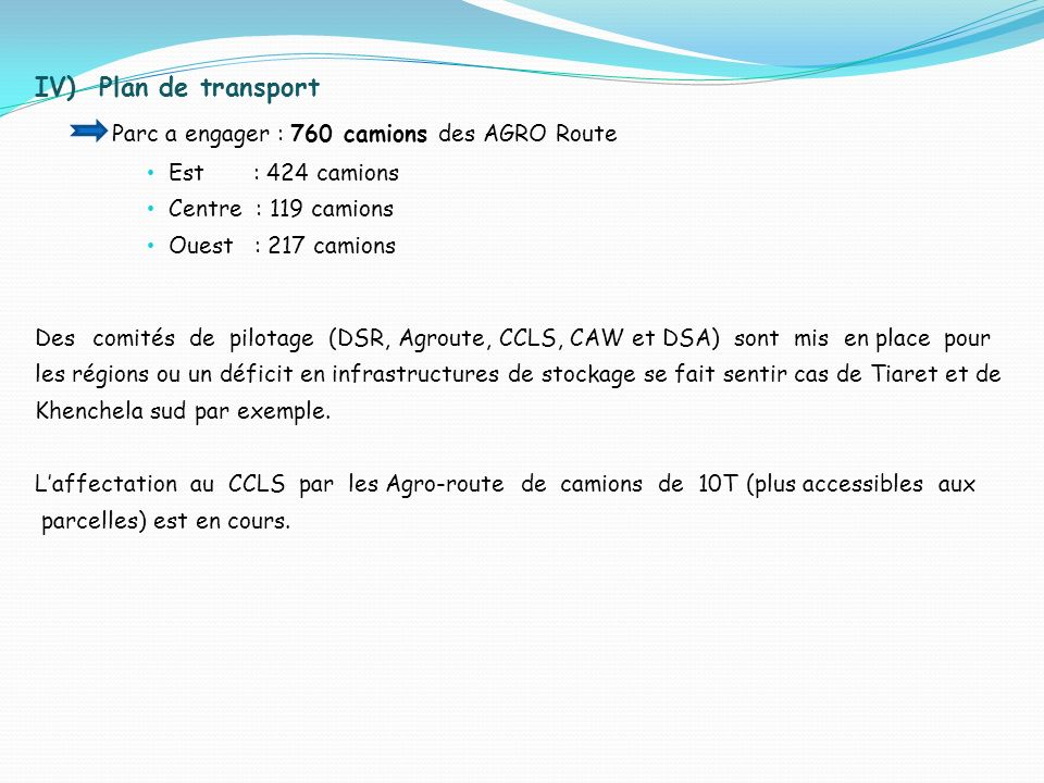 Parc a engager : 760 camions des AGRO Route