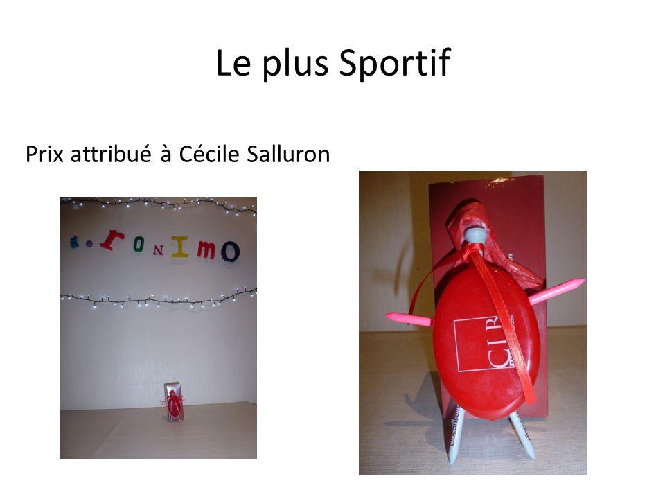 Le plus Sportif Prix attribué à Cécile Salluron