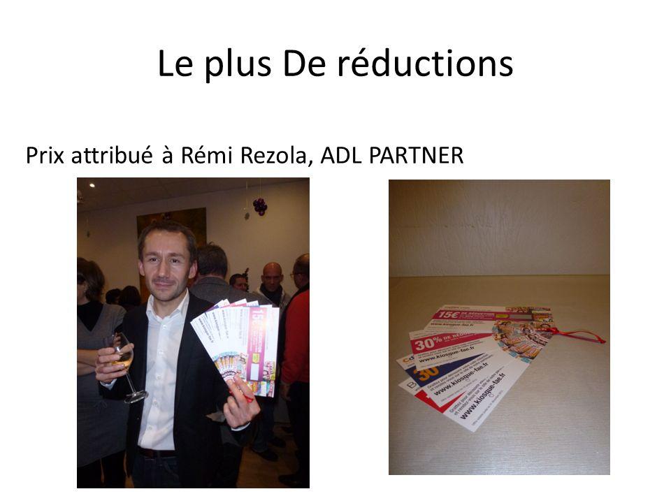 Le plus De réductions Prix attribué à Rémi Rezola, ADL PARTNER