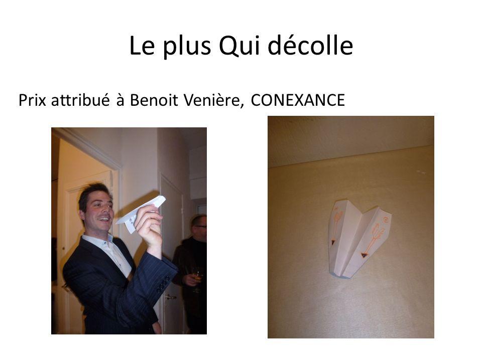 Le plus Qui décolle Prix attribué à Benoit Venière, CONEXANCE