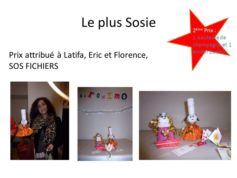 Le plus Sosie Prix attribué à Latifa, Eric et Florence, SOS FICHIERS