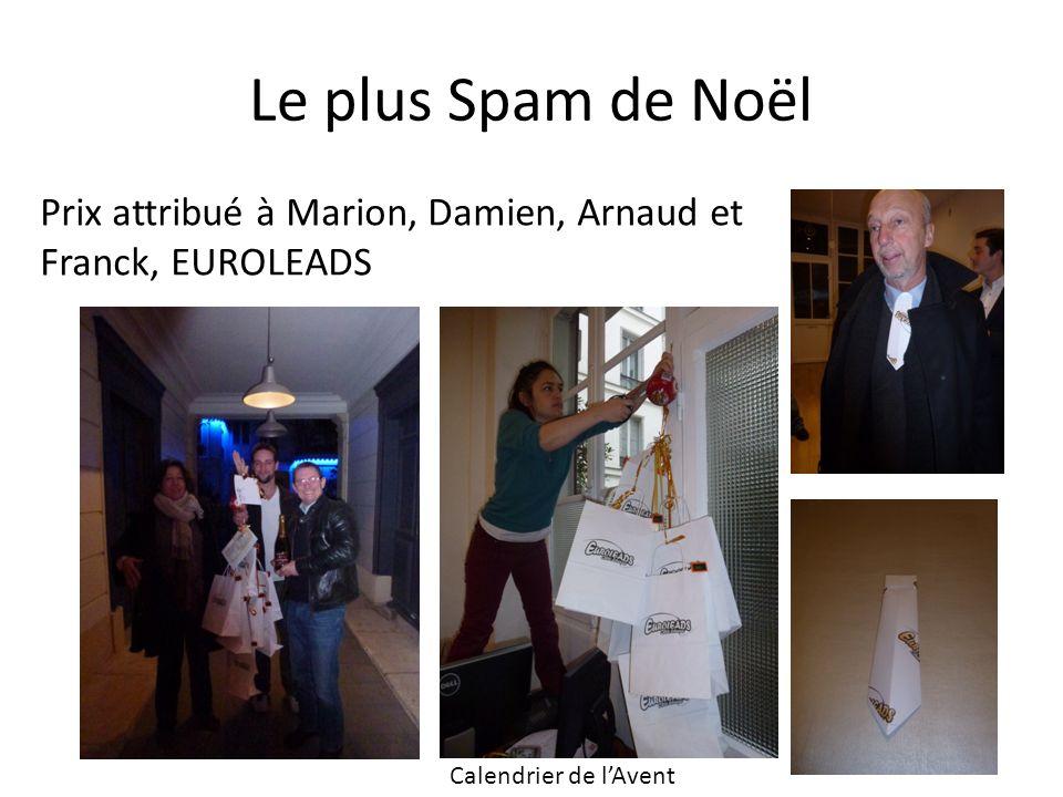 Le plus Spam de Noël Prix attribué à Marion, Damien, Arnaud et Franck, EUROLEADS.