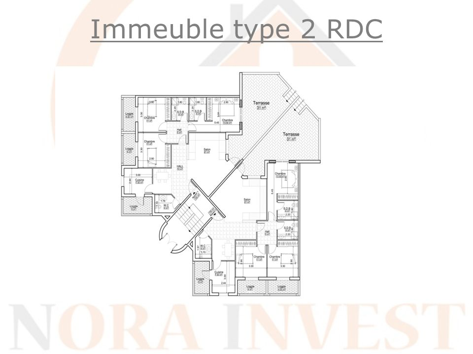 Immeuble type 2 RDC