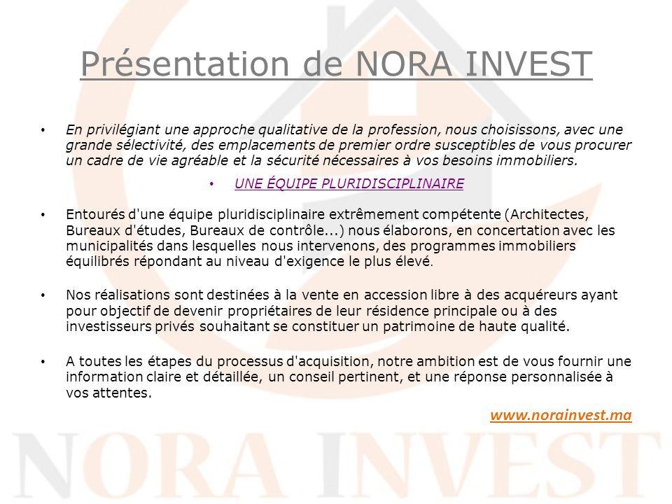 Présentation de NORA INVEST