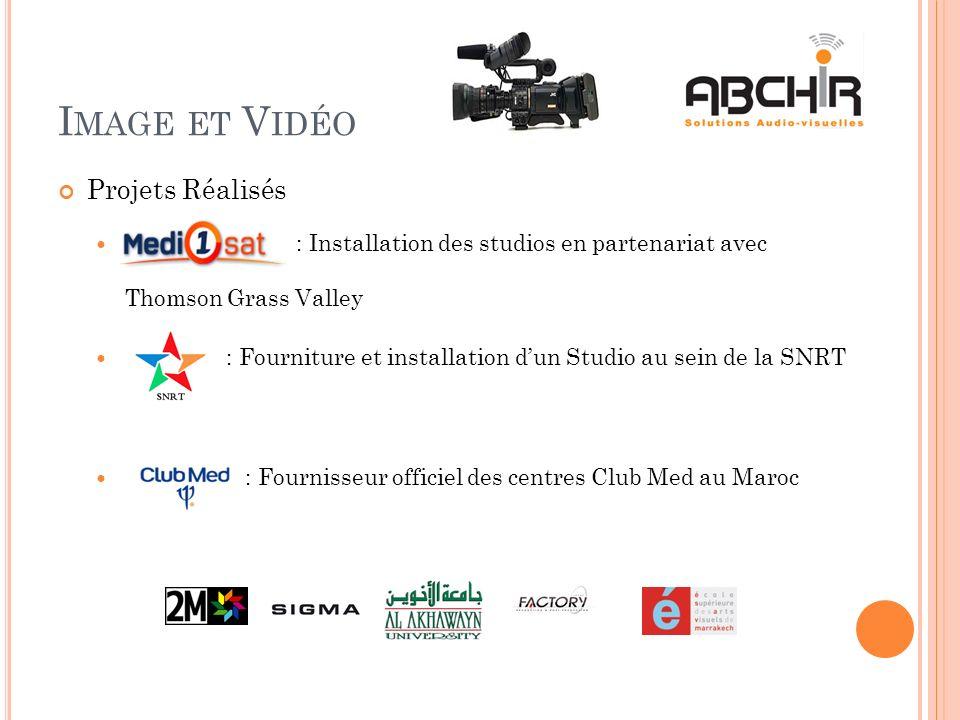 Image et Vidéo Projets Réalisés