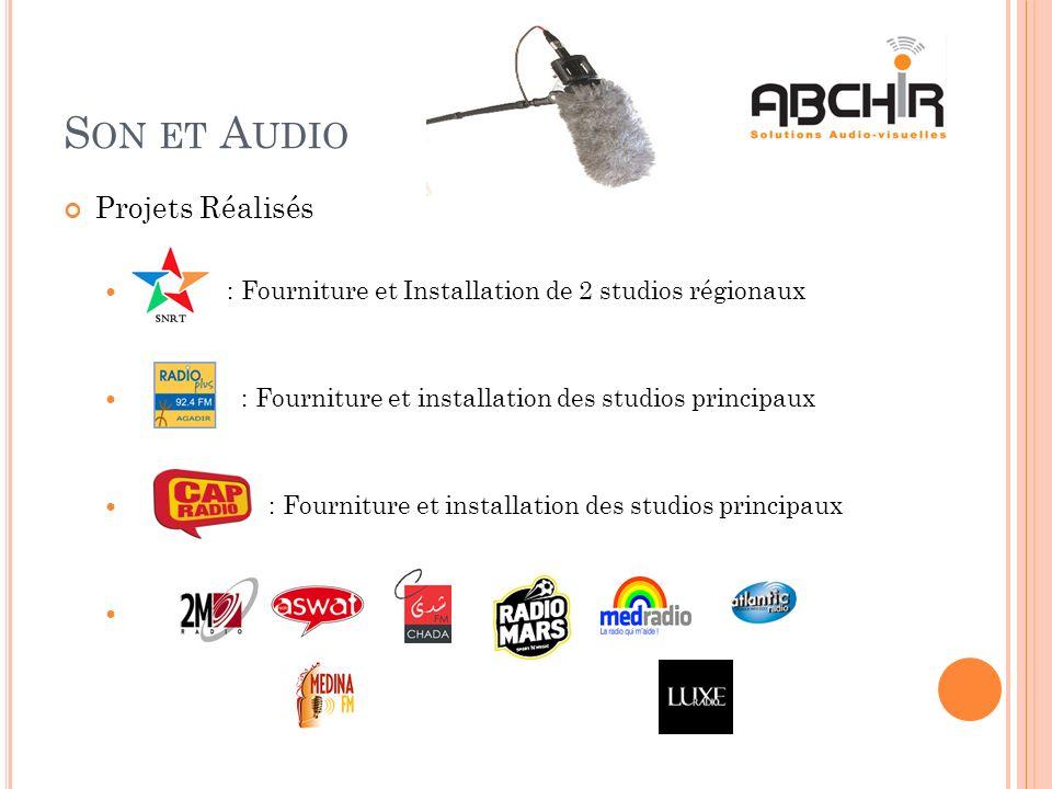 Son et Audio Projets Réalisés