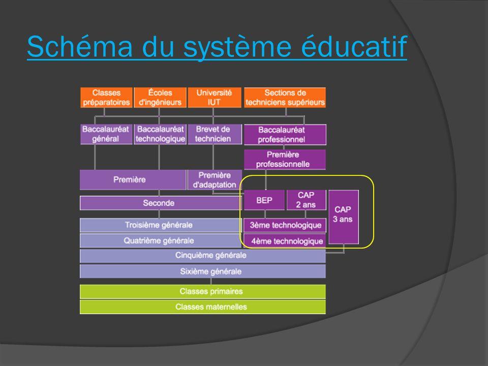 Schéma du système éducatif