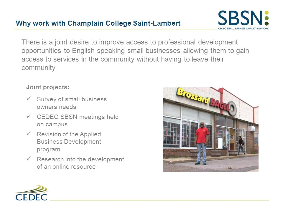 Why work with Champlain College Saint-Lambert
