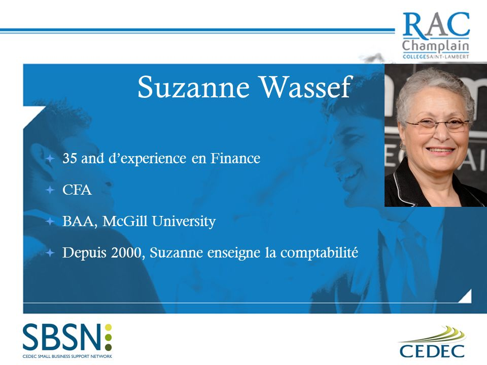 Suzanne Wassef 35 and d'experience en Finance CFA