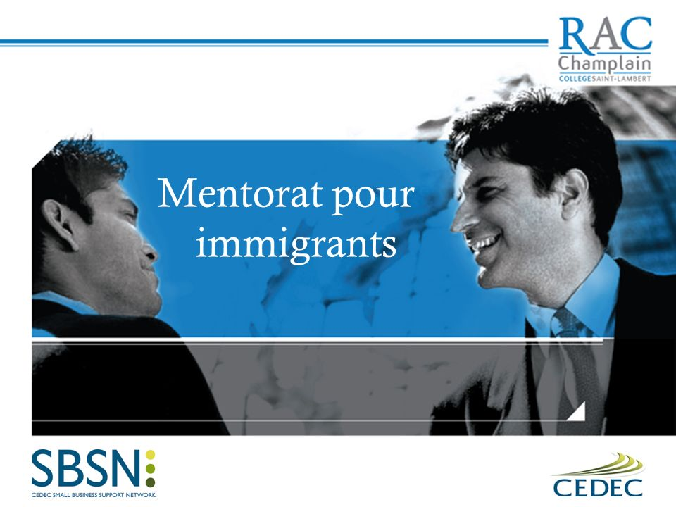 Mentorat pour immigrants