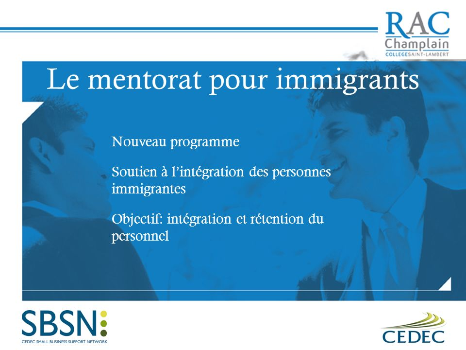 Le mentorat pour immigrants