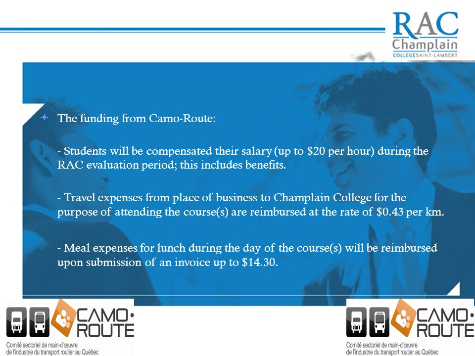 The funding from Camo-Route: