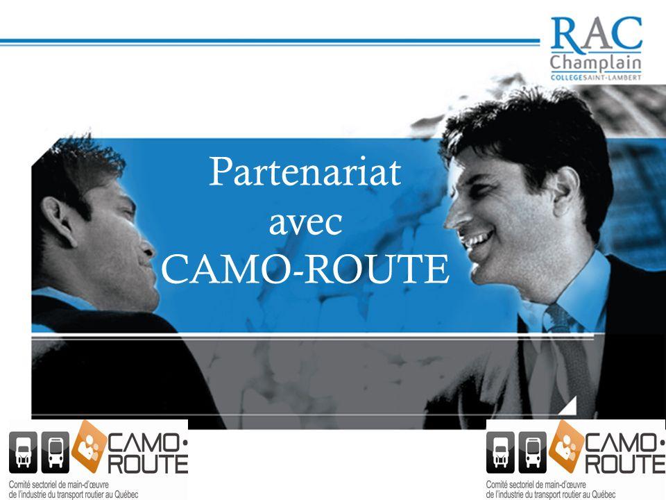 Partenariat avec CAMO-ROUTE
