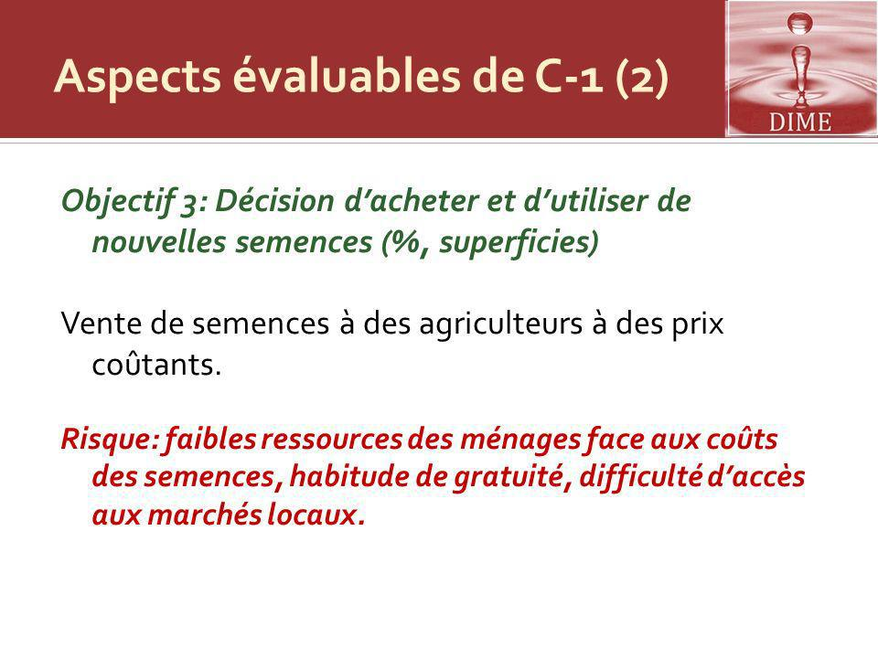 Aspects évaluables de C-1 (2)