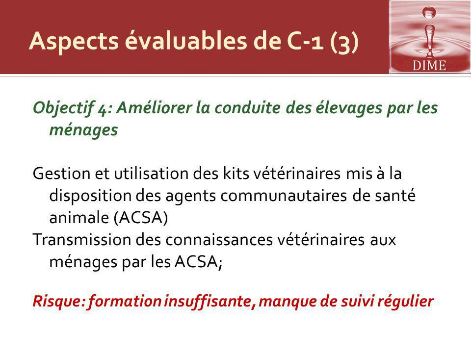 Aspects évaluables de C-1 (3)