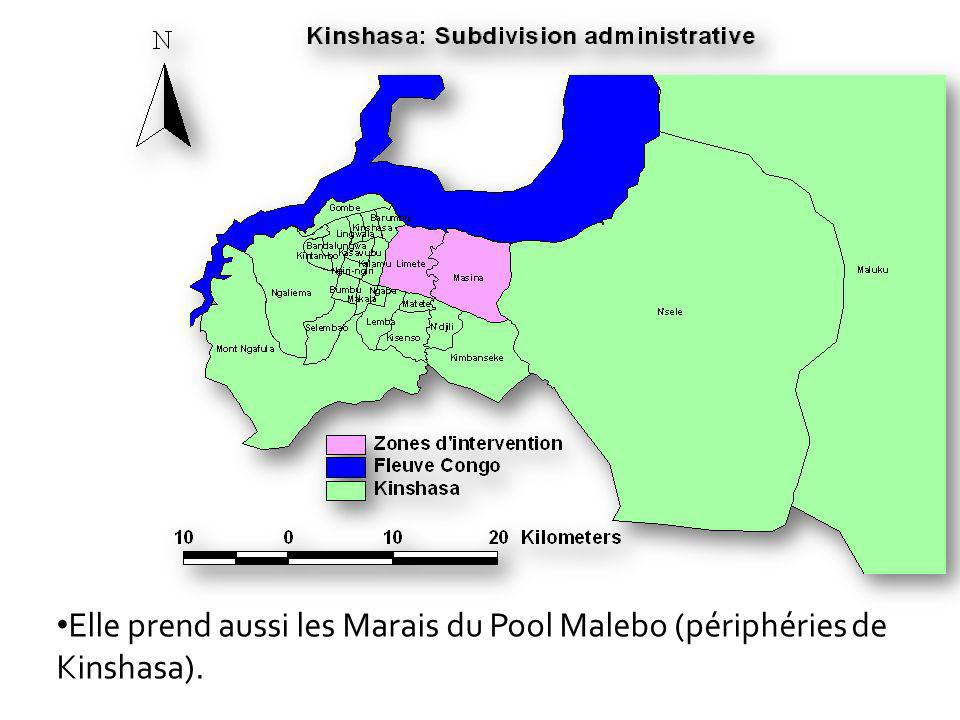 Elle prend aussi les Marais du Pool Malebo (périphéries de Kinshasa).