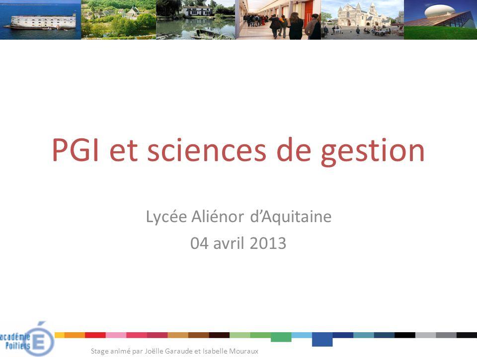 PGI et sciences de gestion