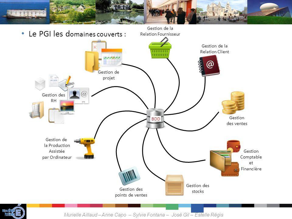 Le PGI les domaines couverts :