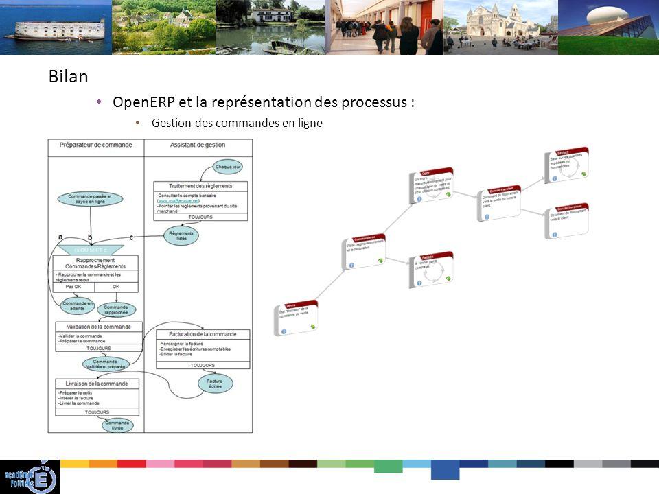 Bilan OpenERP et la représentation des processus :
