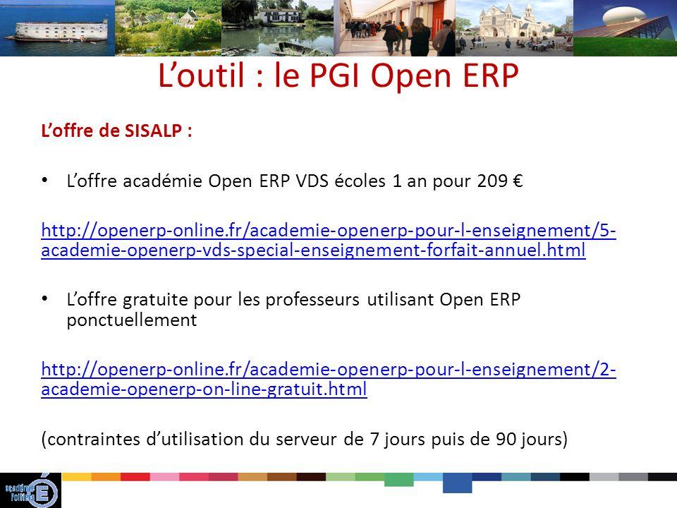 L'outil : le PGI Open ERP
