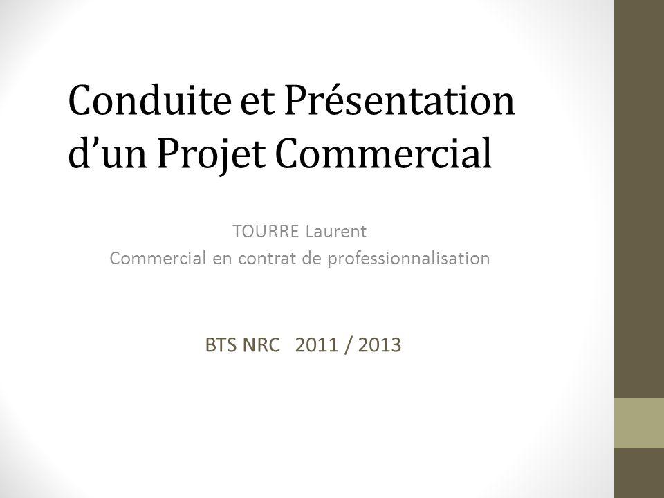 Conduite et Présentation d'un Projet Commercial