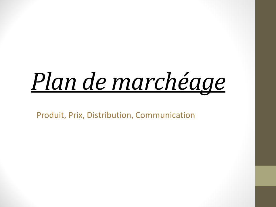 Produit, Prix, Distribution, Communication