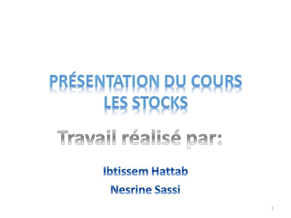 Présentation du cours Les stocks