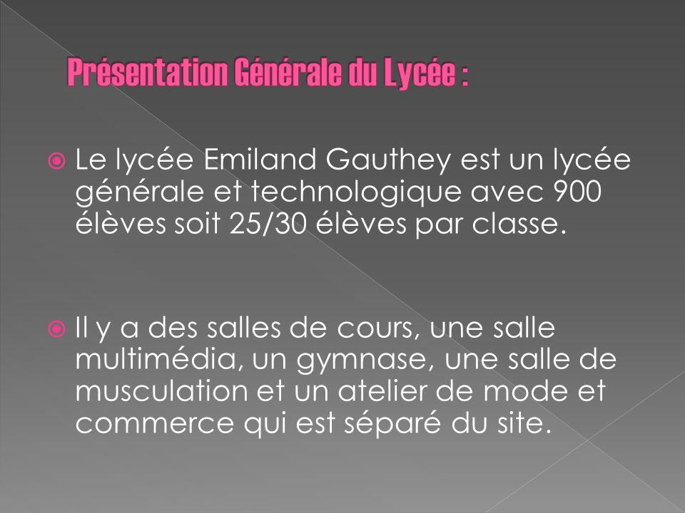 Présentation Générale du Lycée :