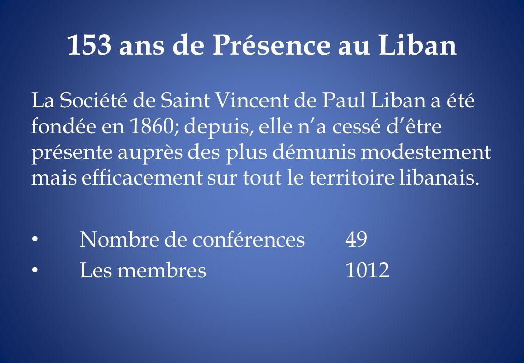 153 ans de Présence au Liban