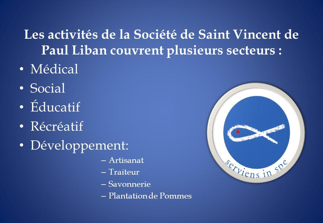 Les activités de la Société de Saint Vincent de Paul Liban couvrent plusieurs secteurs :