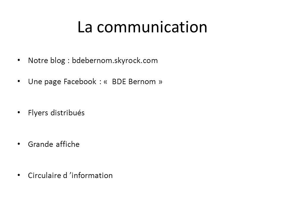 La communication Notre blog : bdebernom.skyrock.com