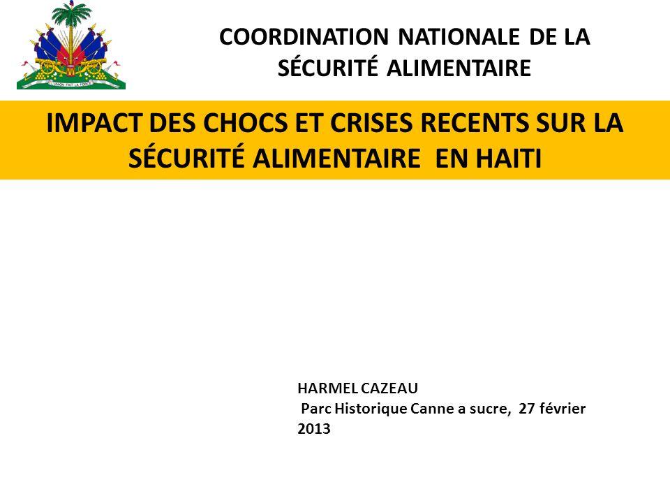 COORDINATION NATIONALE DE LA SÉCURITÉ ALIMENTAIRE