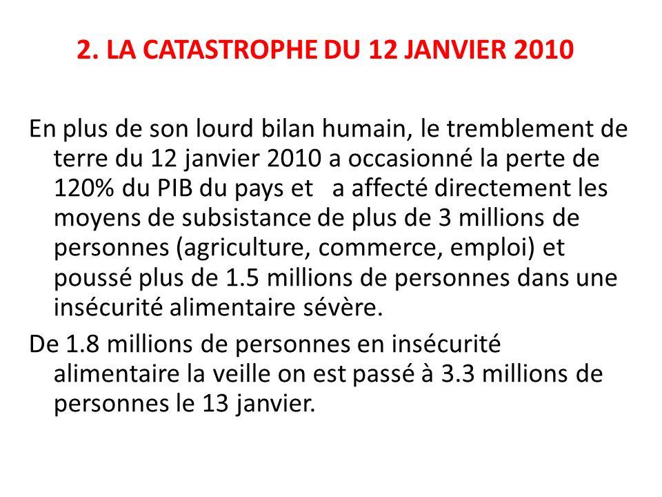 . 2. LA CATASTROPHE DU 12 JANVIER 2010