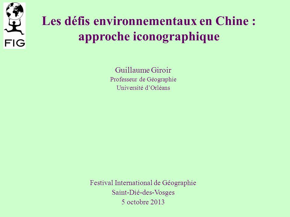 Les défis environnementaux en Chine : approche iconographique