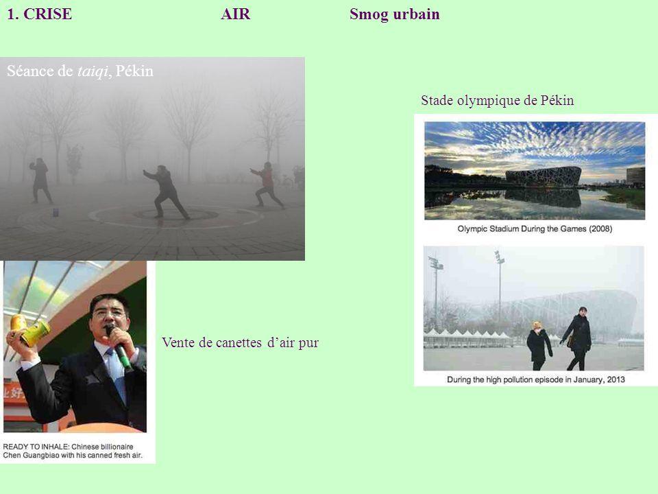 1. CRISE AIR Smog urbain Séance de taiqi, Pékin