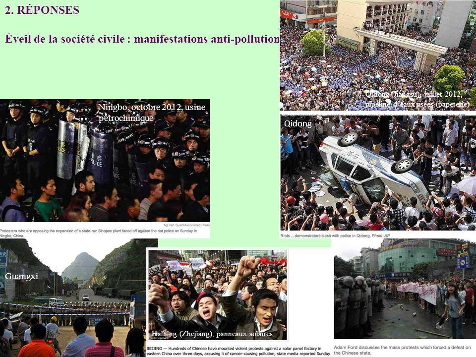 Éveil de la société civile : manifestations anti-pollution