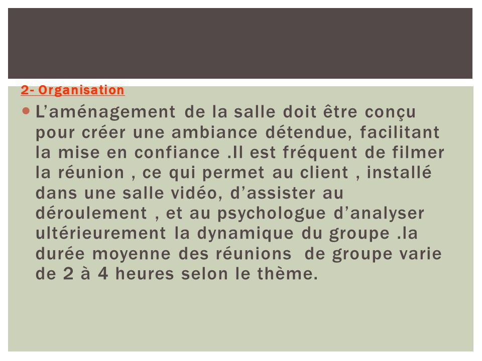 2- Organisation