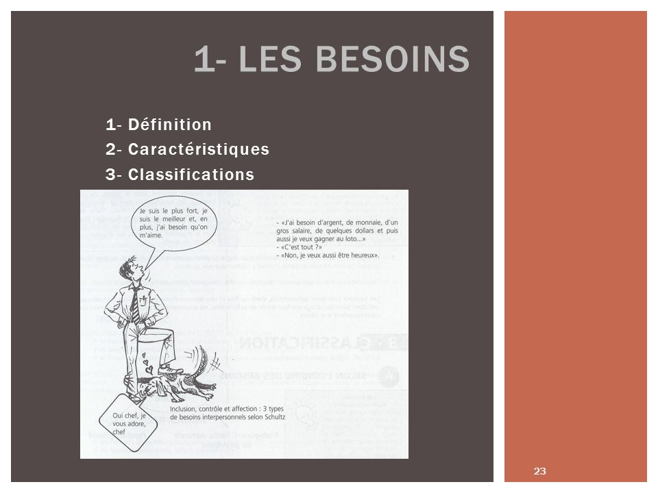1- Définition 2- Caractéristiques 3- Classifications
