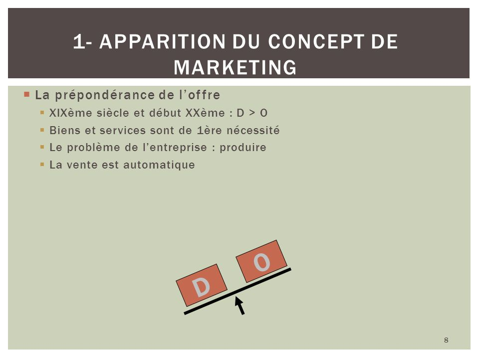 1- apparition du concept de marketing