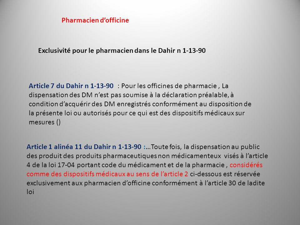 Pharmacien d'officine