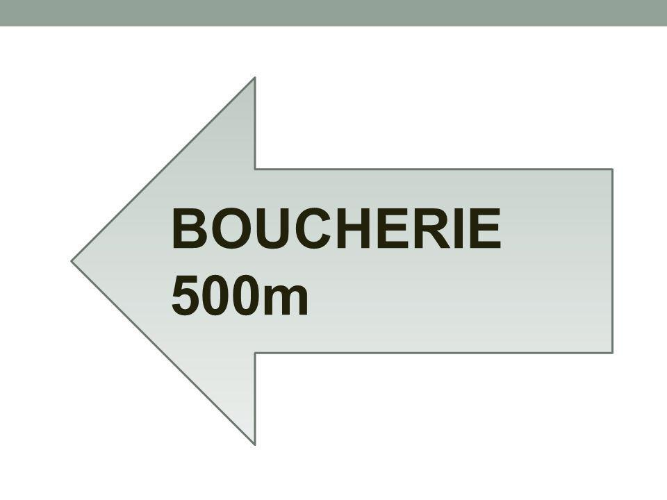 BOUCHERIE 500m